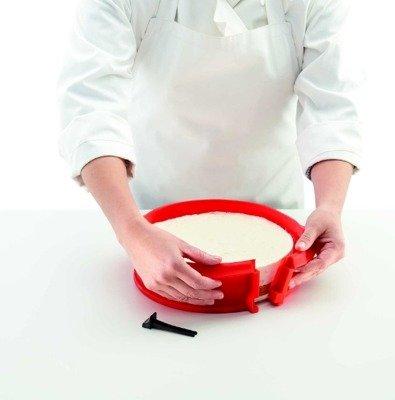 Tortownica silikonowa z ceramicznym dnem talerzem Duo Lekue
